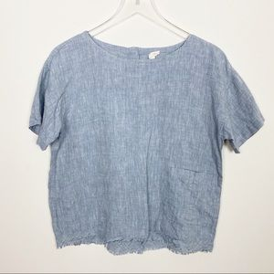 Eileen Fisher grey linen top